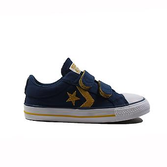 Converse Star Player Infant 760035C Navy Canvas Childrens Unisex Rip Tape Skor
