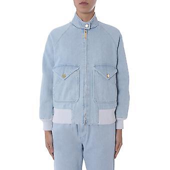 Alberta Ferretti 061216780293 Damen's Hellblau Baumwolle Outerwear Jacke