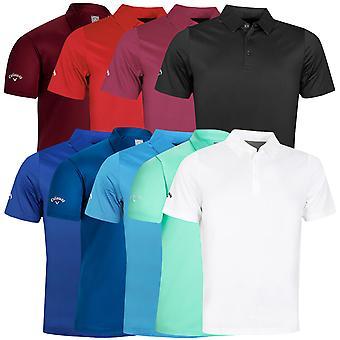 Callaway Golf Mens 2020 Swingtech Solid Stretch Vochtafvoerend Golf Polo Shirt