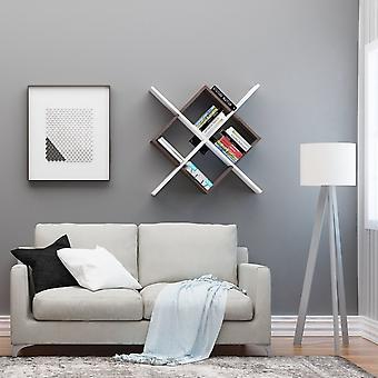 Weiß Ilha Menal, Wenge, schwarz in Chip, lackierte Metallschicht 110x18x110 cm