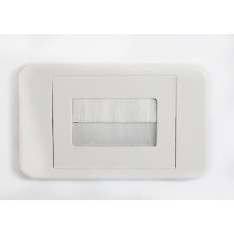 Brush Wall Plate -  White