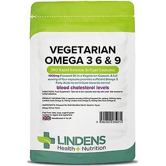 Lindens Vegetarisch Omega 3-6-9 Capsules 360 (5071)