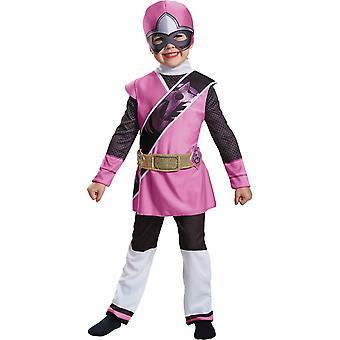 Pink Ranger stål barn kostym