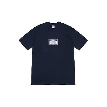 Supreme Social Tee Navy - Clothing