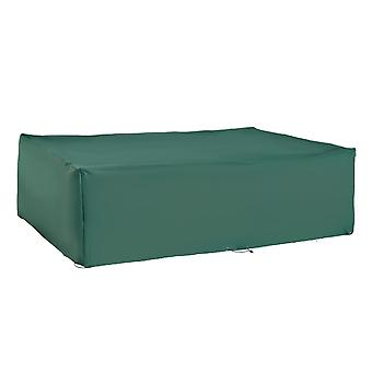 Outsunny UV Rain Protective Rattan Furniture Cover Outdoor Garden Rectangular Furniture Cover Table Chair Sofa Shelter Waterproof 222 x 155 x 67cm - Green