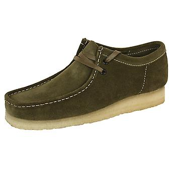 Clarks originals wallabee men's khaki suede shoes