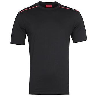 HUGO Dyrtid Stribe detalje sort T-shirt