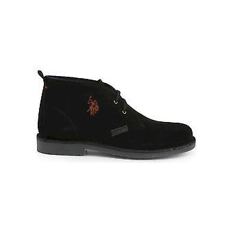 . ארה ב פולו אסאן -נעליים-נעלי תחרה-MUST3119S4_S19A_BLK-גברים-שוורץ-EU 45