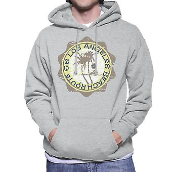 Route 66 Los Angeles Beach Men's Hooded Sweatshirt