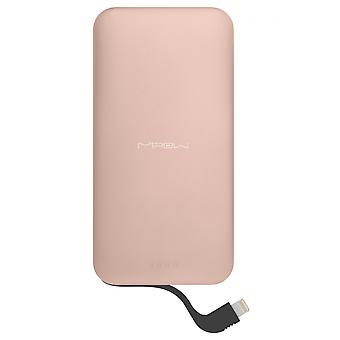 MiPow 5000mAh draagbare oplader met Lightning Connector - Rose Gold