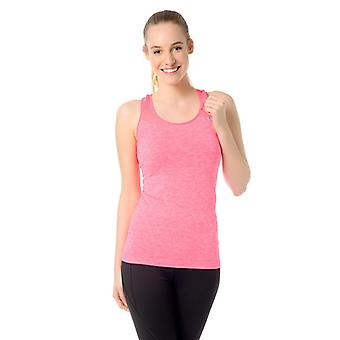 Jerf Womens Palma Neon Pink Sem Costura Tanque