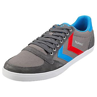 hummel Slimmer Stadil Low Mens Casual Trainers in Grey Blue