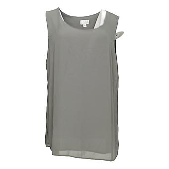Joan Rivers Classics Collection Women's Top Soft Crepe Tank Gray A276502