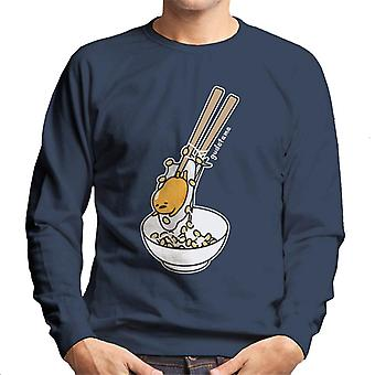 Gudetama gefangen In Essstäbchen Men's Sweatshirt