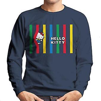 Hello Kitty Líneas Multicolor Hombres's Sudadera