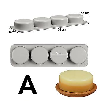 Oval Round Square Diy Silicone 3d Mold For Handmade Soap Making