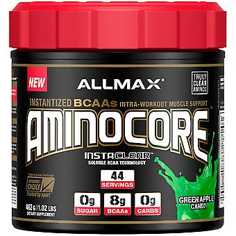 ALLMAX Nutrition, AMINOCORE, Instantized BCAAs Intra-Workout Muscle Support, Gre