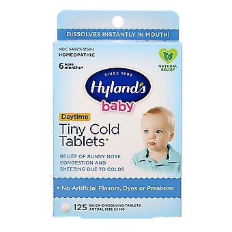 Hyland's, Baby, Tiny Cold Tablets, Daytime, Ages 6 Months +, 125 Quick-Dissolvin