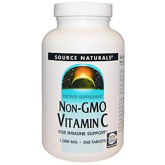 Source Naturals, Vitamine C non OGM, 1 000 mg, 240 comprimés