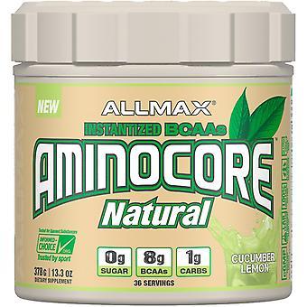 ALLMAX Nutrition, AMINOCORE Natural, Instantized BCAAs, Cucumber Melon, 13.3 oz