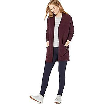 Brand - Daily Ritual Women's Cozy Boucle Coatigan Sweater, Wine Heathe...