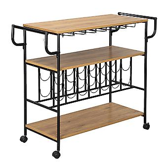 Homemiyn Bor Rack Cart Konyha Gördülő Storage Bar