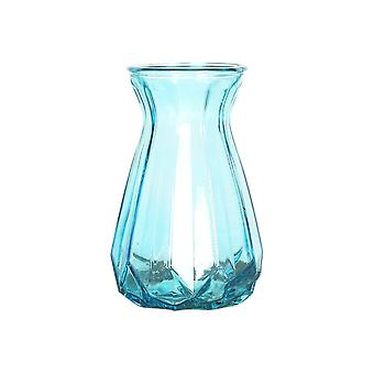 European Glass Flower Vase for Home and Wedding Decorator Small Blue