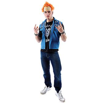 Mens Vyvyan Basterd de kleintjes 80s TV Punk Fancy Dress kostuum