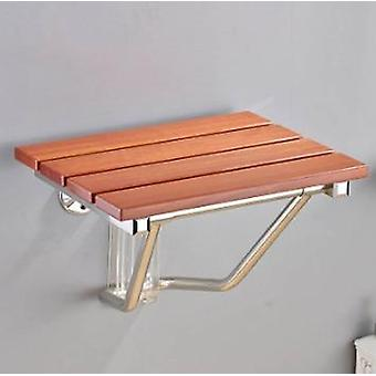 Boutique Wall Chair Stainless Steel, Solid Wood Material, Shoe Folding Bathroom