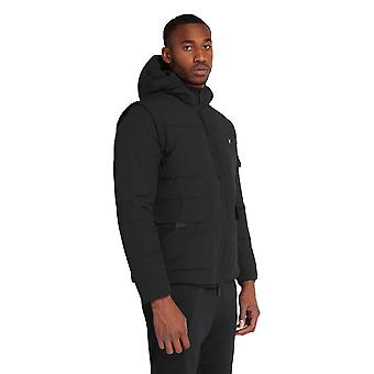 Lyle & Scott Casuals 2-in-1 Ripstop Puffer Jacket - Jet Black