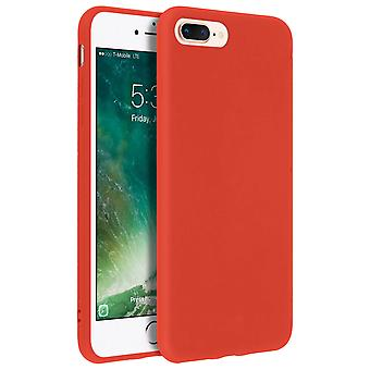 Forcell case for iPhone 7 Plus, 8 Plus, soft touch cover, silicone case – Red