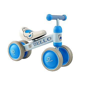 Walking cykel Bello blå - dubbla hjul - 56x24.5x41 cm