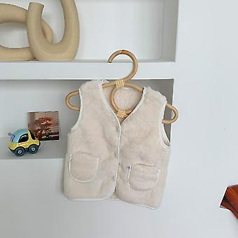 Cute Waistcoat Toddler For Baby Fashion Kids Outwear Boys Girls V-neck Winter Warm Solid Clothes