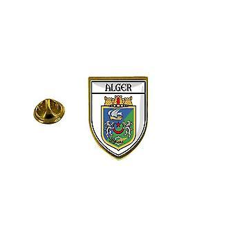 pine pine badge pine pine pin-apos;s souvenir stad vlag land wapenschild ecusson algiers algerie