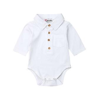 Baby-Sommer-Kleidung, formale Body, Kurzarm Turn Down Kragen Shirts