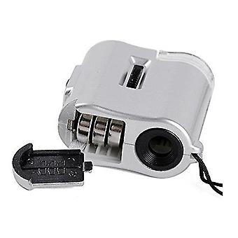 Mini Led 60x Jeweler Loupes Currency Detecting Microscope Magnifier