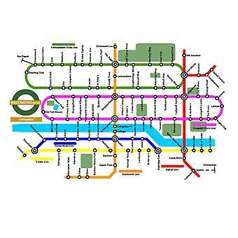 Wacky Metro Map Livingston by Wacky Metro