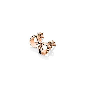 Diamantes calientes plata esterlina oro rosa chapado Quest Circle Stud Pendientes DE652