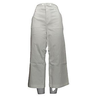 DG2 af Diane Gilman Women's Petite Pants White Beskåret Bomuld 725-085