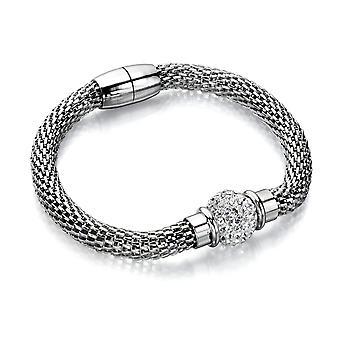 Fiorelli Fashion Imitation Rhodium Plaqué Cristal Clair Perles & Bracelet chaîne mesh 20cm