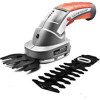 Terratek 2 IN 1 Pro 7.2V Lithium Ion Cordless Hedge Trimmer, Topiary Shears
