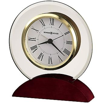 Howard Miller Dana Tabletop Clock - Dark Red/Gold