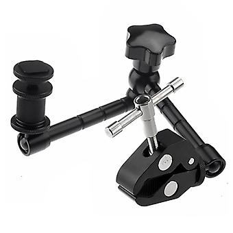 11 inch Adjustable Friction Articulating Magic Arm + Large Claws Clips for DSLR / LCD Monitor(Black)