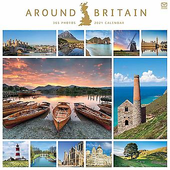 Otter House Around Britain Square Wall Calendar 2021
