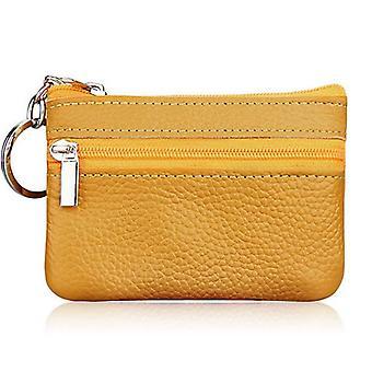 mote lær kvinner lommebok clutch zip kvinnelig kort liten mynt vesken splitter ny