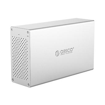 ORICO Honeycomb Series WS200RC3 SATA 3.5 inch USB 3.1 USB-C / Type-C Dual Bays Aluminum Alloy HDD / SSD Enclosure with Raid, The Maximum Support Capac