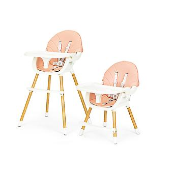 Høj stol - spisestuestol - højdejusterbar - 60x55x92 cm