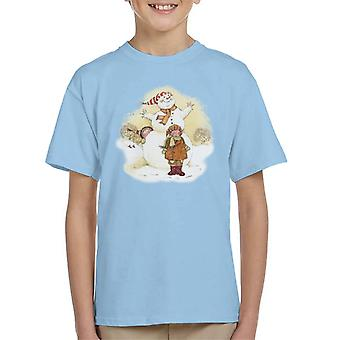 Holly Hobbie Jul Snemand Kid's T-shirt