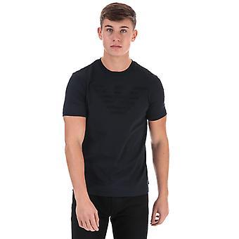 Menn&a0os;s Armani Eagle Logo T-skjorte i blått