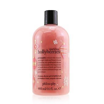 Mousserende Hollyberries Shampoo Shower Gel & Boblebad - 480ml/16oz